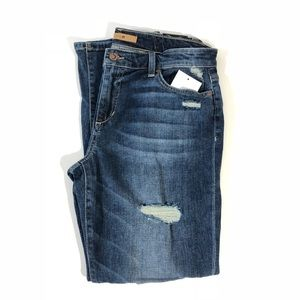 NWT Joe's Jeans Destroyed Rolled Crop Jeans